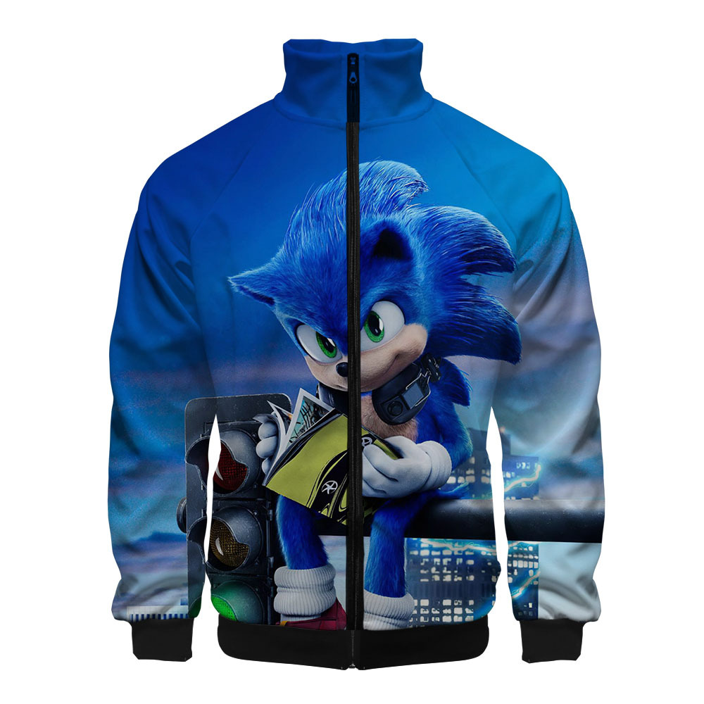 Anime Sonic The Hedgehog Cosplay Costum 3d Print Mens Jackets Harajuku Cardigan Stand Collar Zipper Baseball Jacket Outerwear Denim Coat With Fur Jean Jacket Fur Collar From Beke 18 74 Dhgate Com