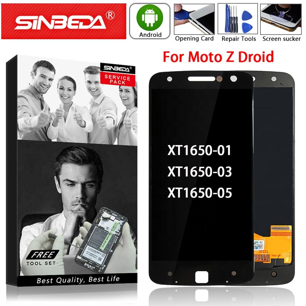 Super AMOLED For Motorola MOTO Z Droid XT1650 LCD Display Touch Screen Digitizer For Moto Z XT1650-01 XT1650-03 LCD Screen Parts