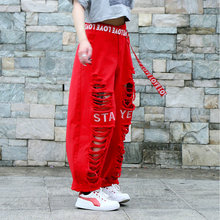 New fashion Brand Sweatpants Costumes wear stage Hollow Out