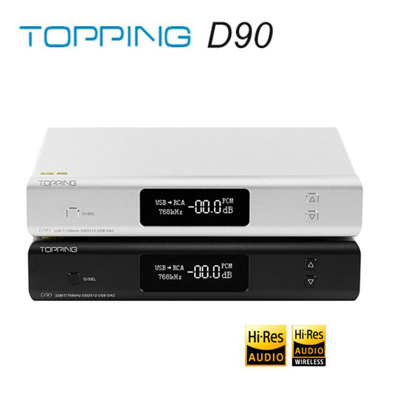 TOPPING D90 AK4499 AK4118 Full Balanced DAC Bluetooth 5.0 DSD512 Hi-Res Decoder