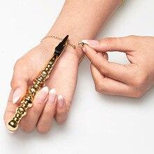 Золотой браслет помощник Экстремальная помощь ручной инструмент, помощь женщинам с браслетом застежка для украшений, ручной Бадди, декоративные наклейки
