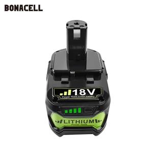 Image 2 - Bonacell 18V 4000mAh Li Ion P108 P 108 Rechargeable Battery For Ryobi Battery RB18L40 P2000 P310 for BIW180 L30