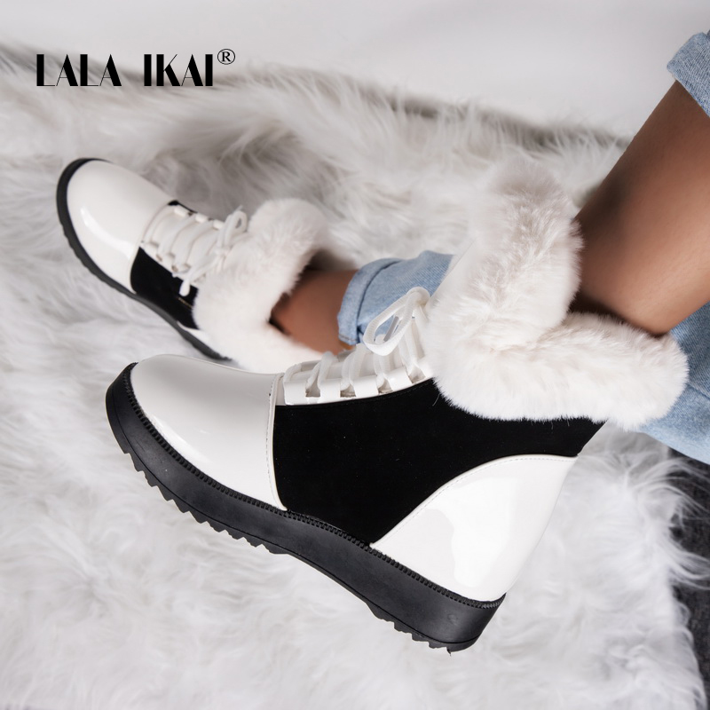 LALA-IKAI-Women-Winter-Ankle-Boots-2019-PU-Leather-Warm-Snow-Boots-Female-Black-Outdoor-Waterproof (2)