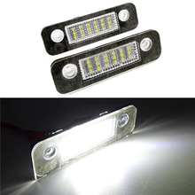 цена на 1Pair Car LED Number License Plate Light SMD LED Canbus Lamp Car Styling for Ford Mondeo MK2 Fiesta Fusion Accessories 12V White