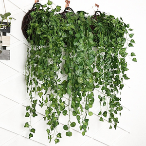 90cm Artificial Vine Plants Hanging Ivy Green Leaves Garland Radish Seaweed Grape Fake Flowers Home Garden Wall Party Decoration