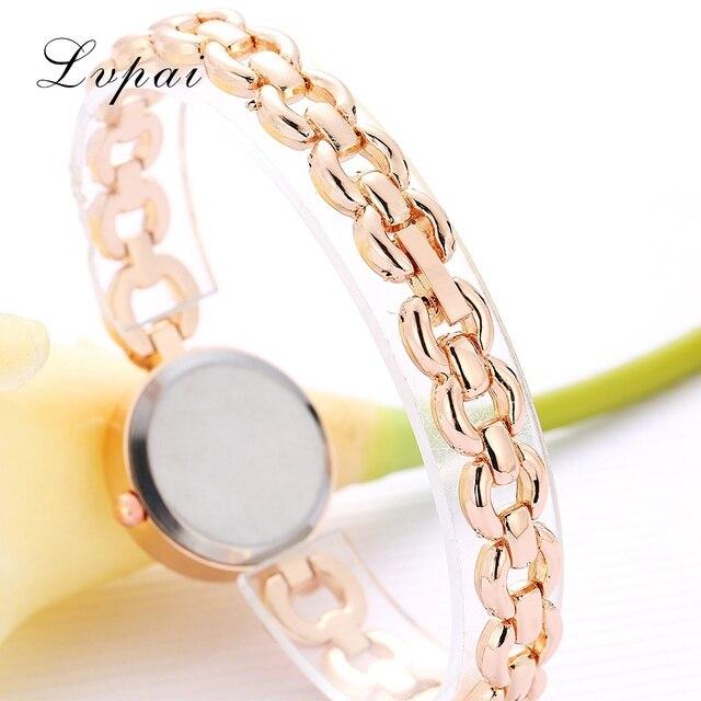 Women Watches Luxury Rose Gold Silver Bracelet Wristwatch Ladies Alloy Simple Casual Quartz 5