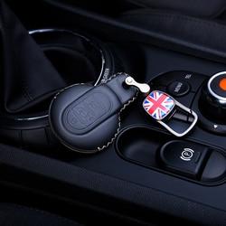 Caso chave de couro do carro chaveiro capa para bmw mini cooper s um jcw f54 f55 f56 f57 f60 clubman countryman estilo do carro acessórios