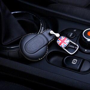 Image 1 - Deri anahtar kutusu araba anahtarlık kapak BMW MINI COOPER S JCW F54 F55 F56 F57 F60 CLUBMAN COUNTRYMAN araba styling aksesuarları