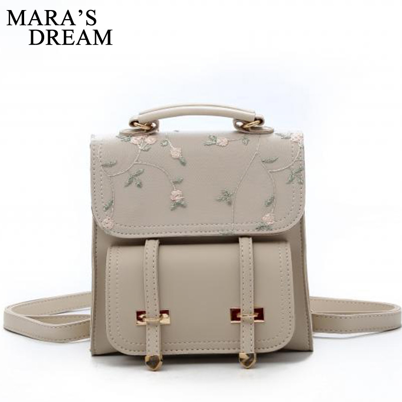 Mara's Dream 2019 Solid Color Square Bag Student Backpack Casual Mini Lace Embroidered Girl Small Backpack