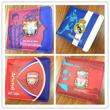 EDBETOS One Piece The premier league English England Football Soccer Fabric and Leather Wallet