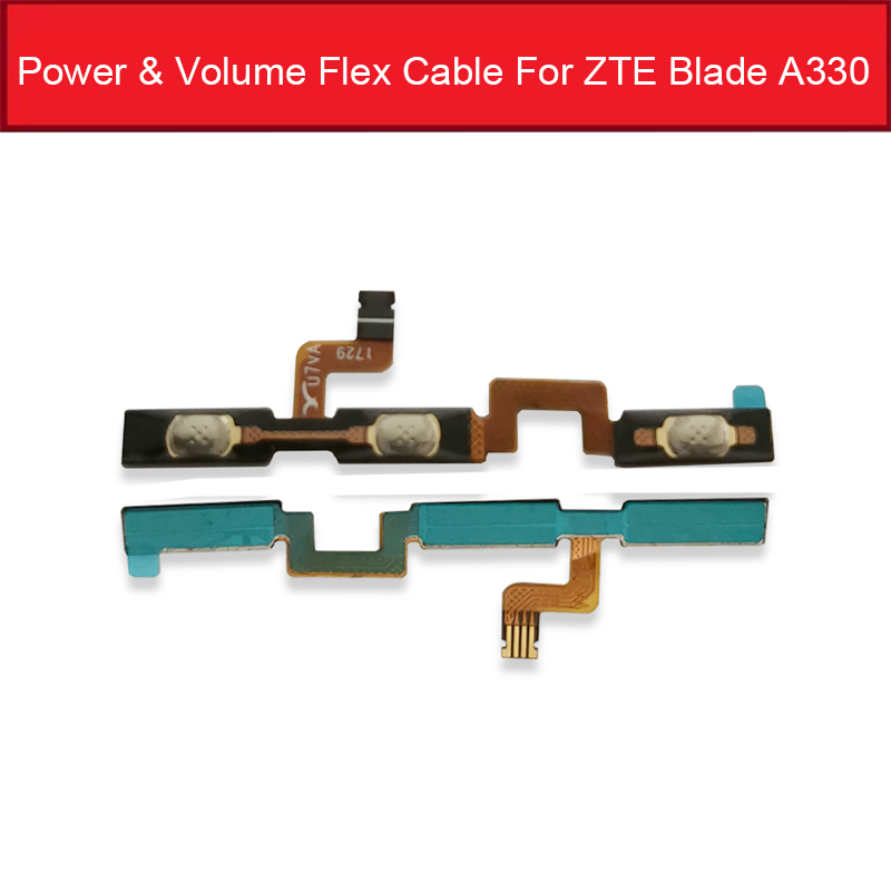 Power & Volume Side Button Flex Cable For ZTE Blade A330 Power Volume Control Switch Sidekey Flex Ribbon Replacement Parts