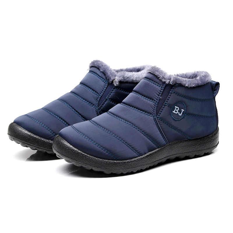 Erkek botları kış ayakkabı sıcak kürk kar botları erkekler peluş alt kış erkek ayakkabısı su geçirmez yarım çizmeler erkekler kış çizmeler ayakkabı