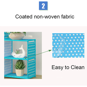 Image 5 - DIY Assemble Book Shelf Non woven Fabric Storage Rack Removable Book Stand Holder Sundries Organizer Display Shelf for Home