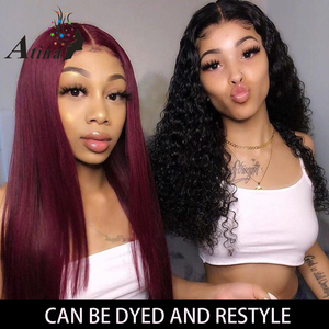 Image 4 - HD Lace Front Human Hair Wig Straight Invisible Transparent Full Lace Wigs Atina Frontal Remy Closure Wig 150% Deep Lace T Part