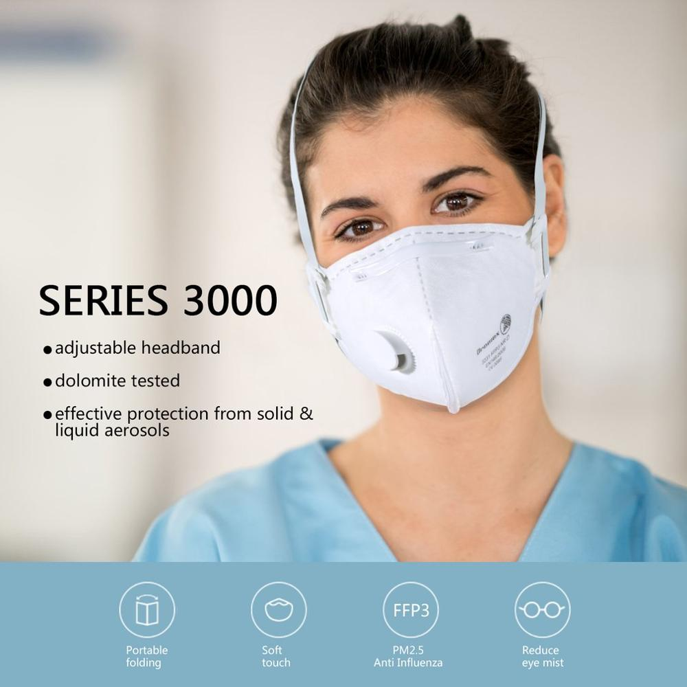 Dust-Proof Anti-Fog FFP3 Mask With Valve Dust Mask Anti Pm2.5 Anti Influenza Breathing Bicycle Riding Face Mask Safety Masks