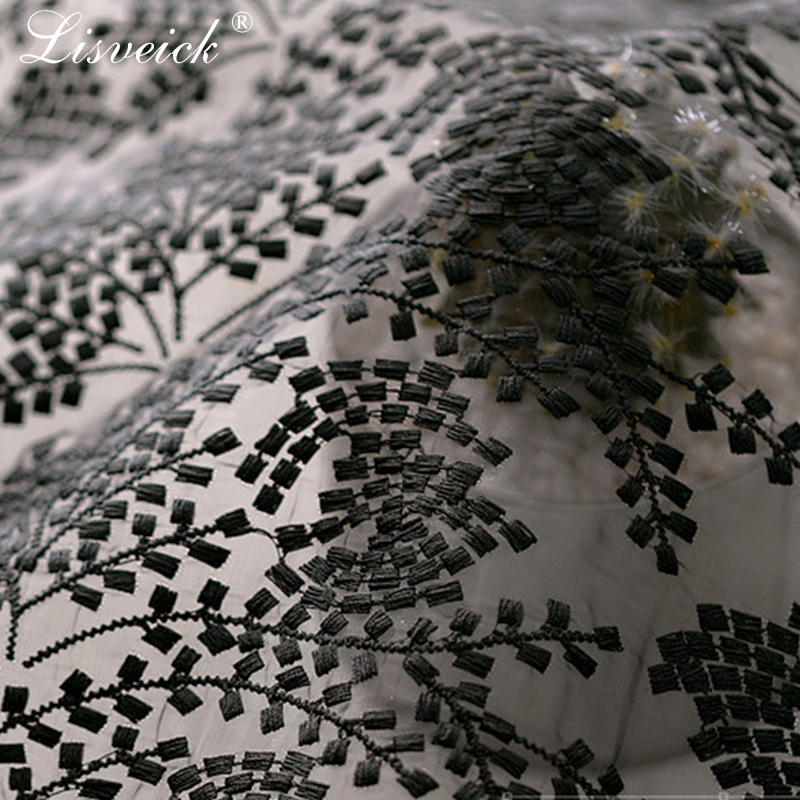1yard High grade blue organza embroidery wheat net tulle lace fabric diy wedding dress skirt costume materials home decoration in Fabric from Home Garden