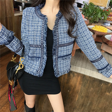 Plaid Tweed Elegant Blazers Women 2020 Autumn Winter Plus Size Blazer for Women
