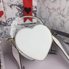 Женские кошельки и сумки из натуральной кожи, роскошная модная красная сумка на плечо в форме сердца, женская сумка через плечо на цепочке, дамская сумочка