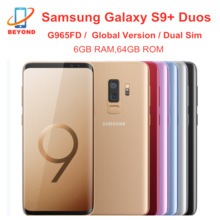 Samsung Galaxy S9 + S9 плюс G965FD двусимочный 6 ГБ оперативной памяти, 64 Гб встроенной памяти, глобальная версия Octa Core 6,2