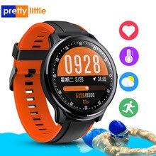 Sn80 relógio inteligente homem ip68 à prova dip68 água tela de toque completo smartwatch freqüência cardíaca pressão arterial fitness faixa esportes música câmera