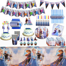 Frozen 2 Anna Elsa Princess Birthday Party Decorations Kids Pretty Napkin for Baby Shower Party Supplies(China)
