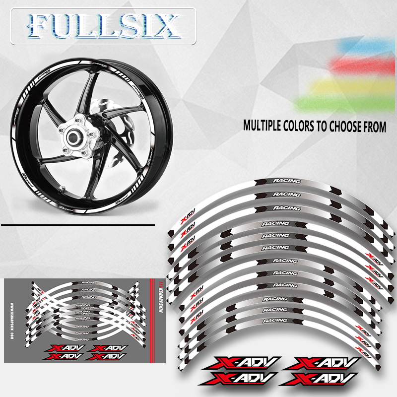 Hot Sell Motorcycle Front And Rear Wheels Edge Outer Rim Sticker Reflective Stripe Wheel Decals For HONDA XADV X ADV 2017 2018