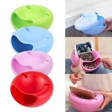 4 цвета, пластиковая двухслойная коробка для хранения еды для перекуса, чаша для фруктов и Кронштейн для мобильного телефона