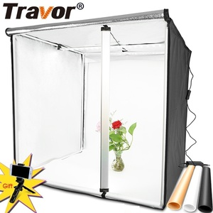 Image 1 - Travor Light Box 80*80CM Portable Softbox Photo LED Lightbox Tent With 3 Colors Background For Studio Photography Lighting Box