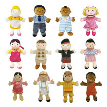 1pcs/lot ,30cm The New Family plays the role of plush hand puppet  whispering storytelling baby education props toys