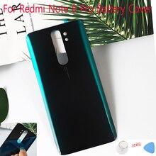 Boîtier pour Xiaomi Redmi Note 8 Pro batterie couverture arrière panneau de verre couverture arrière porte Note8 pro réparation pièces de rechange + colle autocollant