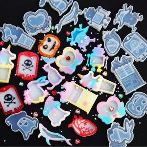 Moldes de silicone para artesanato e joias, faça você mesmo, moldes de silicone fantasma de caveira, bolsa de sangue, unicórnio, icecream, ferramentas para fazer joias