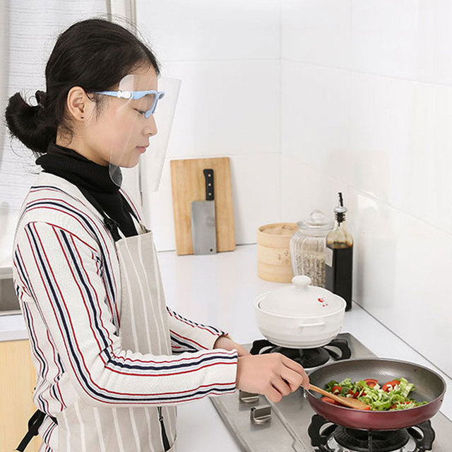 Creative protective face shield Kitchen Oil-Splash Proof Mask Transparent Virus protection mask kitchen outdoor accessories 4