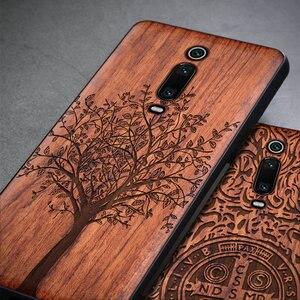 Image 2 - טלפון מקרה עבור Xiaomi Mi 9 לייט Mi 9T Mi 10 פרו מקורי Boogic עץ מקרה עבור Xiaomi Redmi הערה 7 הערה 8 פרו טלפון אבזרים