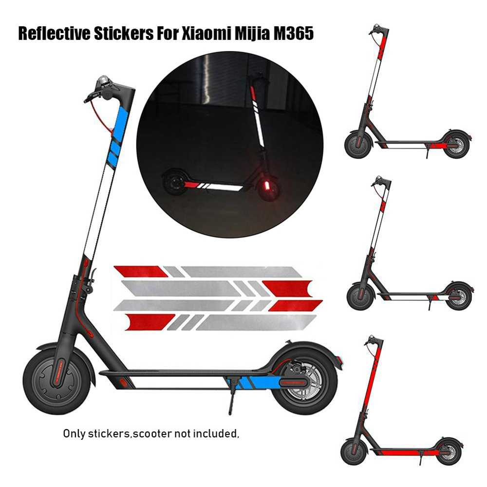 1 セット 20 色反射スタイリングステッカーナイト安全スケートボード警告ストリップ電動スクーター Xiaomi Mijia M365