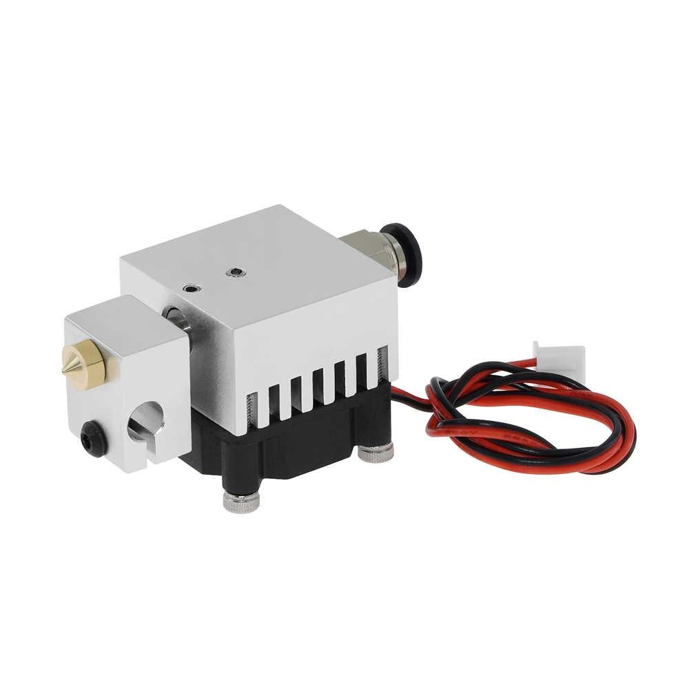 3D キメラ Hotend キット 2 2 アウト押出機マルチ押出すべて金属で V6 デュアルシングル押出機 0.4 ミリメートル /1.75 ミリメートル 3D プリンタ部品