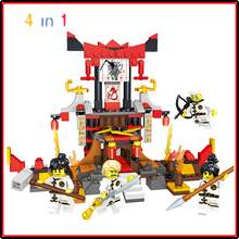 цена на Ninja Block Ninjagoes Smaller Version Building  Blocks DIY Sets Toys Technic for Kids Bricks Ninjagoe