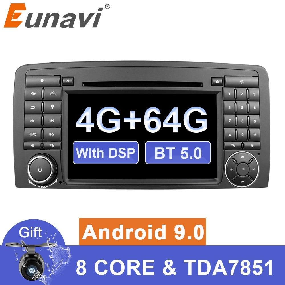 Eunavi 2 din Octa core Android 9 Auto multimedia radio dvd gps für Mercedes Benz R Klasse W251 2006- 2013 R280 R300 R320 R350 DSP