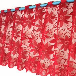 1pc Europe Red Lace Curtain Wi