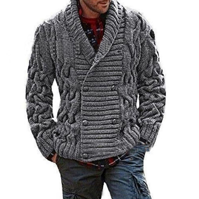 Winter Casual Men's Jacket Knitting  Thick Knitwear Loose Pullovers Vintage Male  Jacket Tops