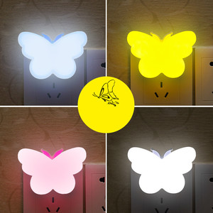 Butterfly Night Light Led Control Induction Novelty Lighting Fluorescent Bedside Table Lamp Decor Cartoons Lamp Christmas Gifts