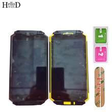 """5.5 """"Display LCD Mobile con cornice per Poptel P9000 Max Display LCD con Touch Screen Digitizer Panel Lens Sensor Assembly Toosl"""