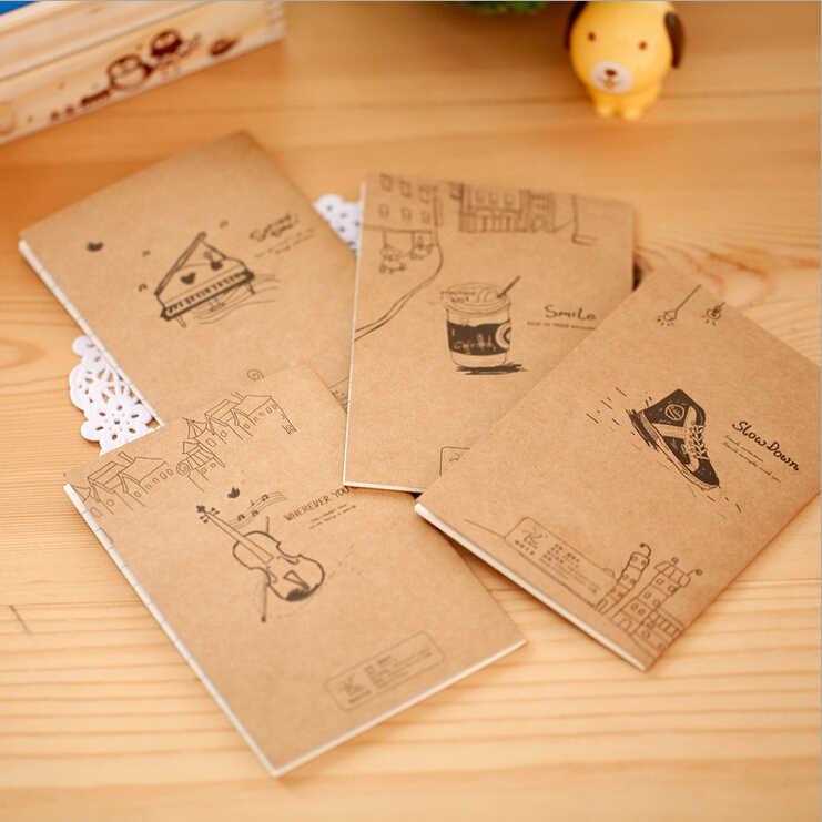 אלן ברוק 1 Pcs קוריאני Creative מכתבים משרדי פנקס רשימות בית הספר חמוד רטרו מקל דמות אוגדן יומן מחברת