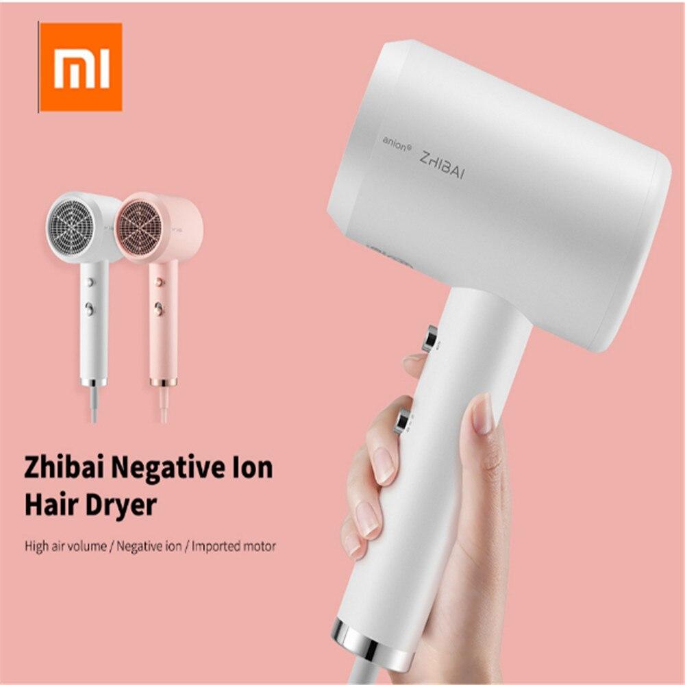 Sèche-cheveux Anion Xiaomi Zhibai 1800W Portable Ion négatif Ion négatif haute puissance faible bruit professionnel séchage rapide de Xiaomi