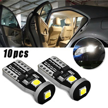 10Pcs White LED Interior Wedge Map License Plate Luggage Dome Side Lights Bulbs цена