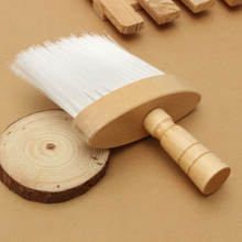 1 Парикмахерская щетка для чистки шеи и лица с пробковой ручкой