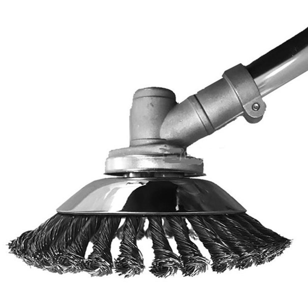 Cepillo de alambre de acero de alta calidad para cortar hierba cabeza Herramientas de limpieza de hierba cortadora de césped para el cuidado del césped de jardín