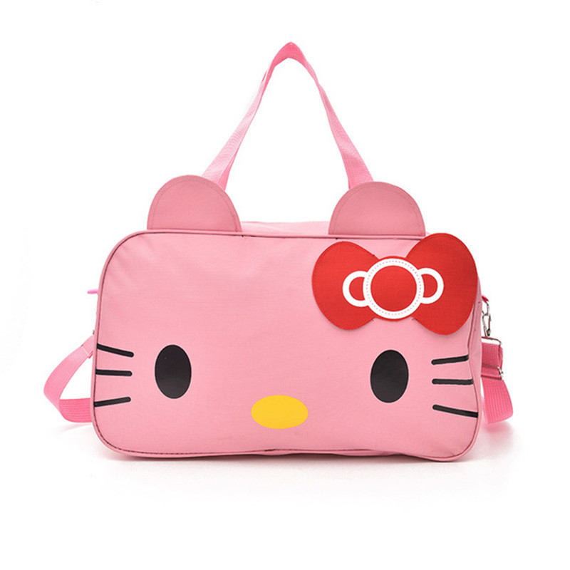 Hello Kitty Latest Cute Cartoon Cat Travel Bag Large Capacity Ladies Fashion Weekend Luggage Waterproof Clothing 2019 StorageBag