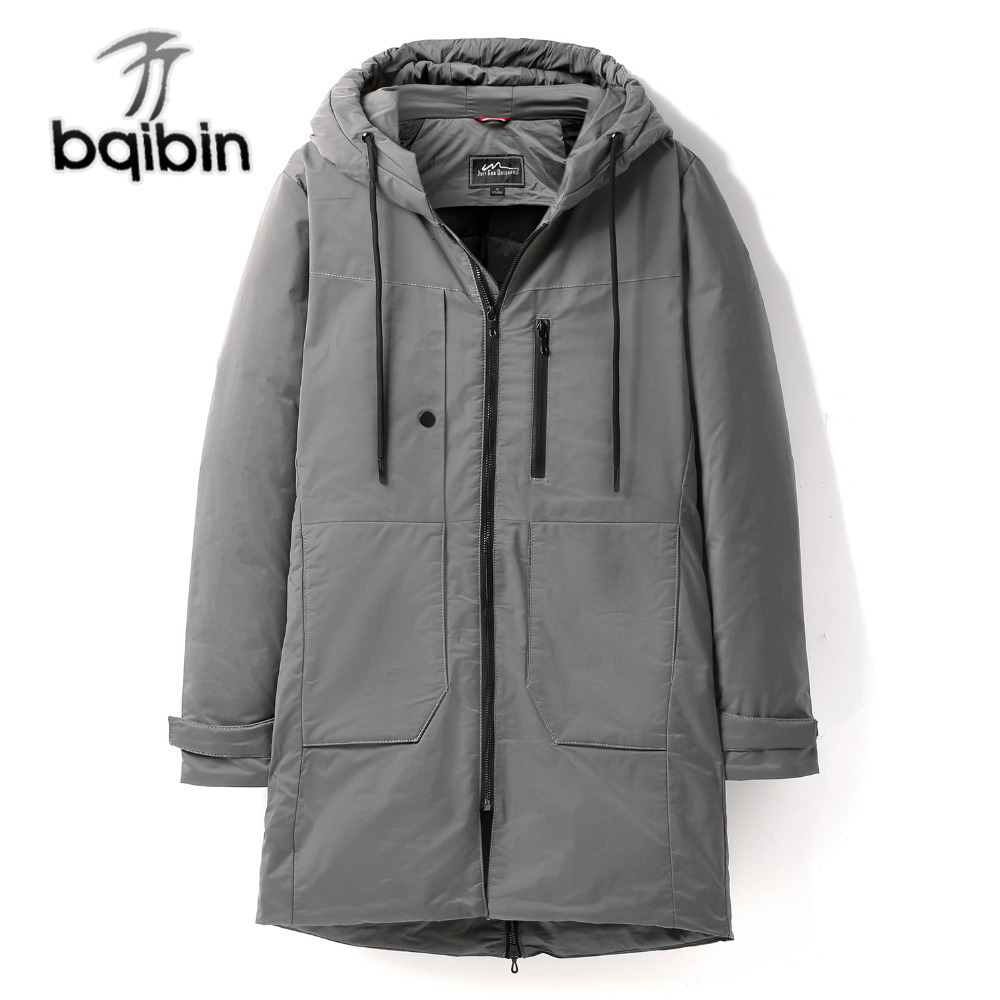 New Winter Coldproof Thick   Down   Jacket Men Warm Waterproof Male Fashion 90% White Duck   Down     Coat   Long   Down   Hood Parkas
