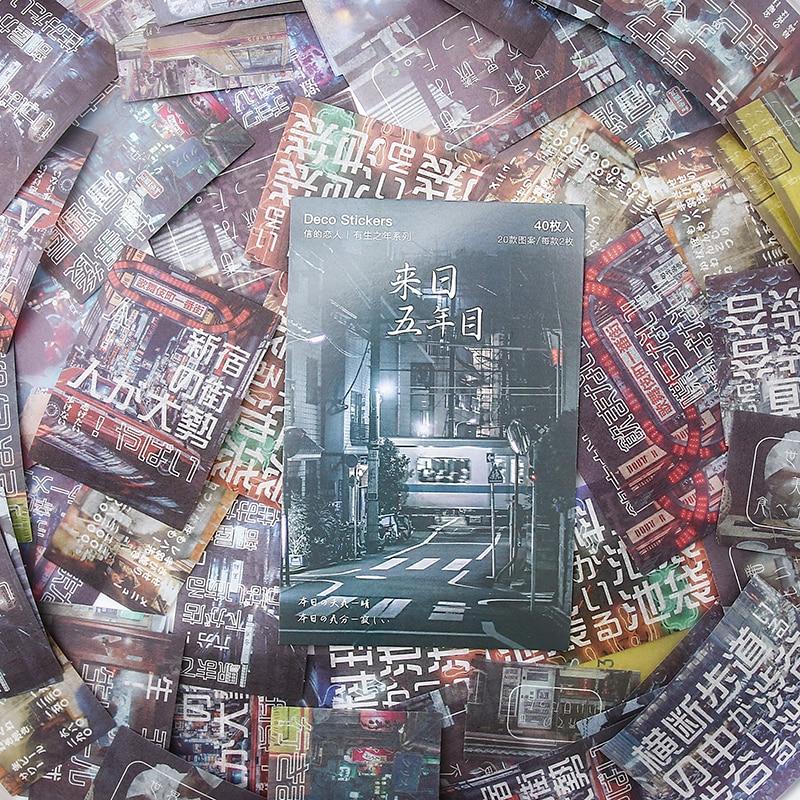 Mohamm 40 шт./лот по всему миру Скрапбукинг дневник наклейки скрапбукинг бумага ремесло Diy хлопья канцелярские товары - Цвет: D