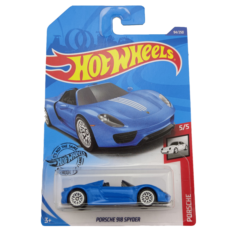 2020-94 Hot Wheels 1:64 Car PORSCHE 918 SPYDER Metal Diecast Model Car Kids Toys Gift